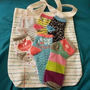 Accessories - Adult size 5-10 teacher socks & toat bag